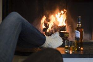 Kuschlig und warm - ein Abend in der Kaminbar