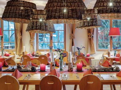 Das rustikale Alpen Restaurant