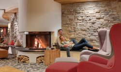 Kaminlounge im Hotel Oberstdorf