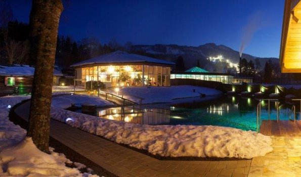 Seesauna im Alpspitz-Bade-Center im Winter