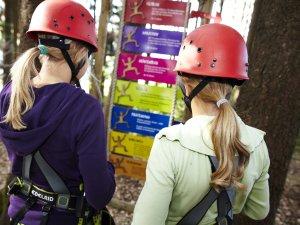 Erst die Regeln studieren, dann kann der Kletterspaß beginnen!
