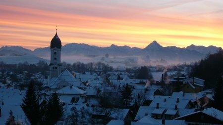 Winter Sonnenaufgang in Nesselwang