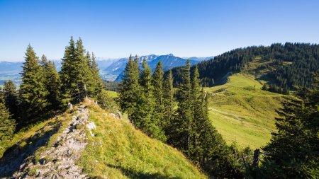 Die Berge beim Wandern genießen