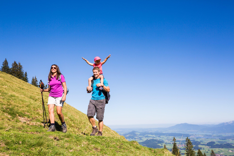 Familienausflug auf der Alpspitze in Nesselwang