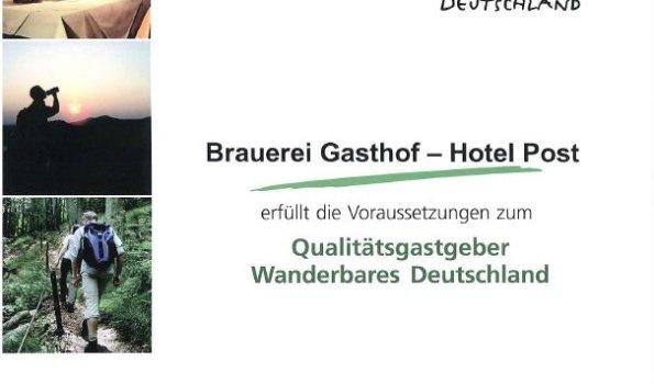 Qualitätsgastgeber- Wanderbares Deutschland