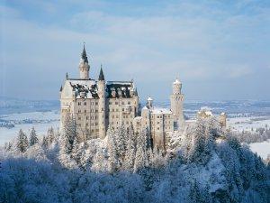 Das winterliche Schloss Neuschwanstein