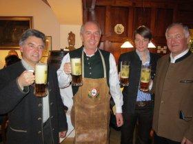 Beim Großer Bock-Bier-Anstich