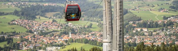 Hoch zum schönsten Ausblick mit der Alpspitzbahn in Nesselwang.