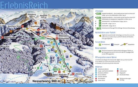 Pistenplan Alpspitzbahn