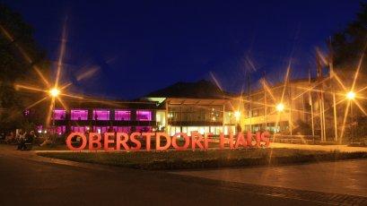 Oberstdorf Haus in Abendstimmung