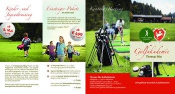 Info-Flyer Thomas Ihle Golfakademie