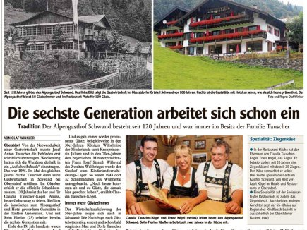 120jähriges Jubiläum, Zeitungsbericht