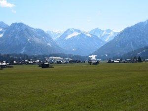 Blick von Oberstdorf in die Berge