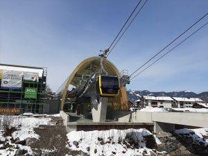 Die Talstation der neuen Nebelhornbahn