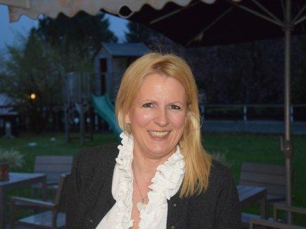 Die glückliche Gastgeberin Susanne Helm