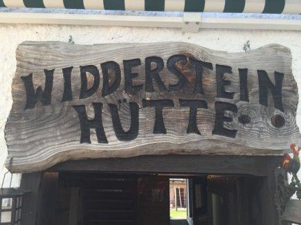 Ziel erreicht die Widdersteinhütte