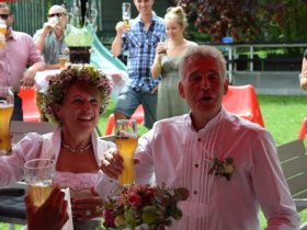Die Feier im Garten des Hotel Tannhofs ließ keine Wünsche offen