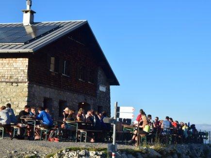 Erste Etappe Fiderepasshütte