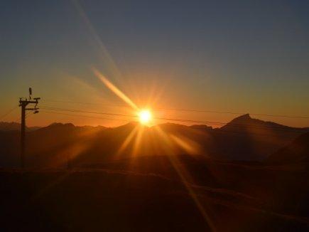 Sonnenuntergang während unserer Tour - ein Traum!