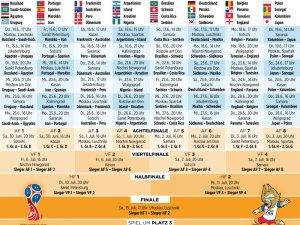 Spielplan Fußball-WM 2018