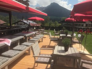 Die neue Terrasse im Hotel Tannhof