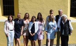 Familie und Freunde waren bei der Firmung von Tochter Carlotta dabei