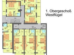 Flügel 2 / Obergeschoss 1