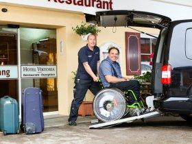 Hotel mit top Rollstuhl Service
