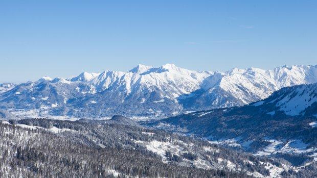Blick vom Ifen nach Oberstdorf
