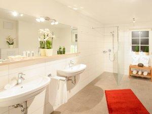 Badezimmer 1 in der Ferienwohnung Löwenzahn