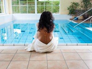 Schwimmbad mit Gegenstromanlage