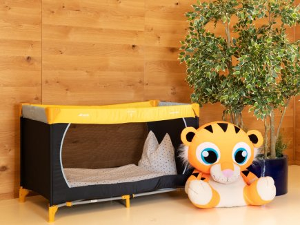 Babybett, auch als Gitterbett erhältlich