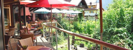 Terrasse von Restaurant Weinklause in Oberstdorf
