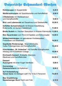 Bay.Schmankerl Wochen - Speisekarte