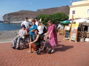 Behinderte verreisen