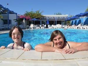 Pool mit Behinderung