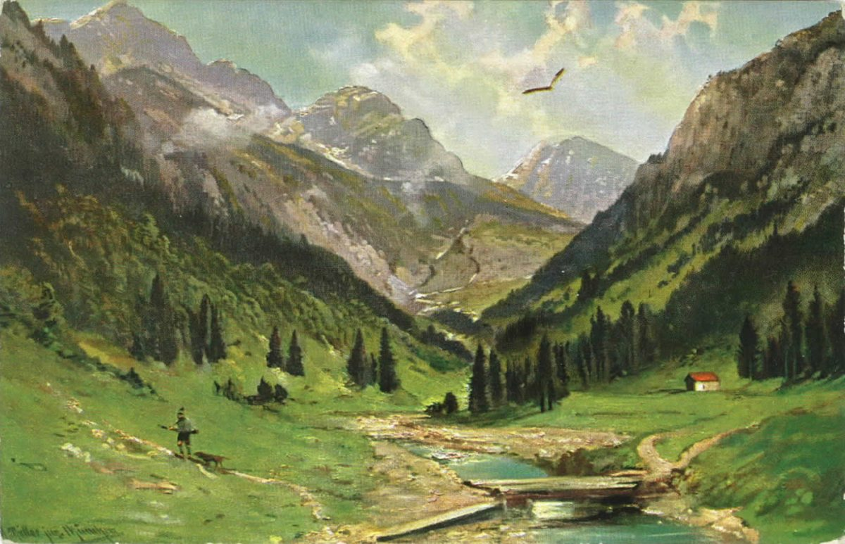 Künstlerkarte Oytal 1912