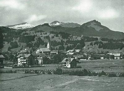 Oberstdorf mit dem hohen ifen
