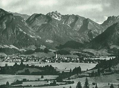 Oberstdorf von Nord-West