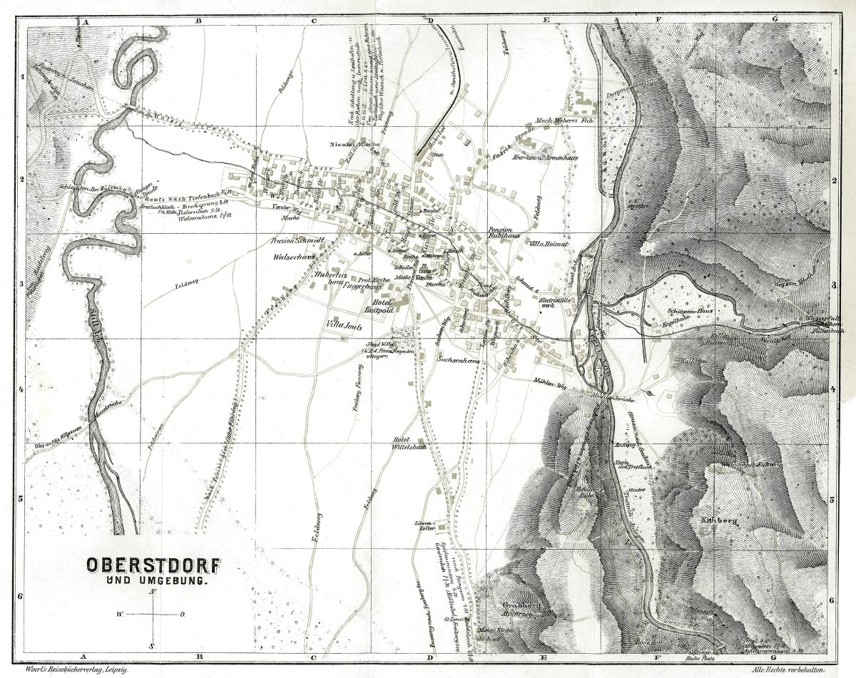 Reliefkarte von 1909
