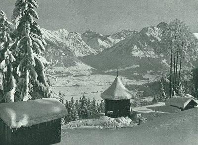 Blick von der Rodelbahn - Am Pavillon