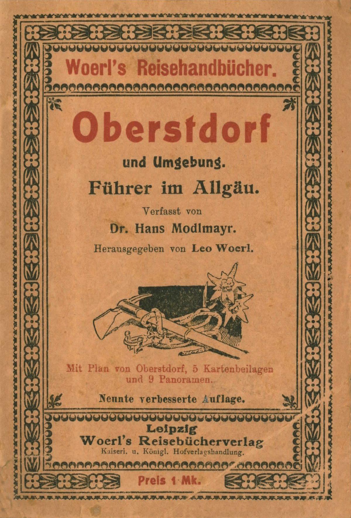 Umschlag Woerls Reiseführer 1909