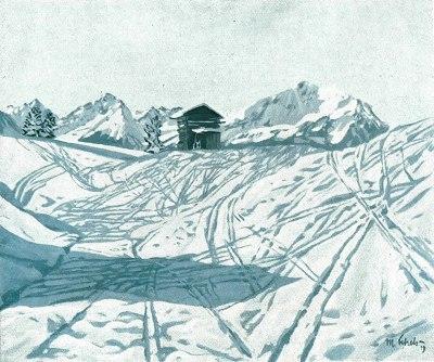 Skispuren auf Dummelsmoos