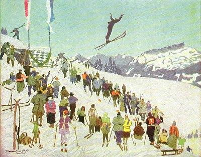 Skispringen auf Schrattenwang