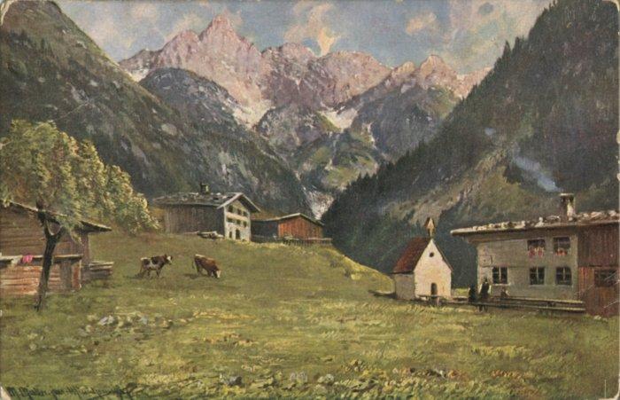 Einödsbach auf einer Postkarte