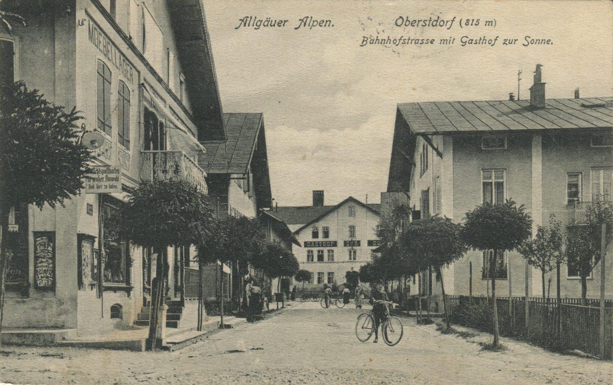 Bahnhofstraße (Hauptstraße) nach Süden