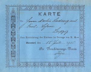 Gästekarte 1905