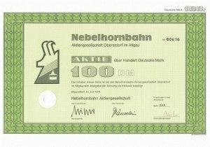 Aktie 1000DM - Nebelhornbahn AG