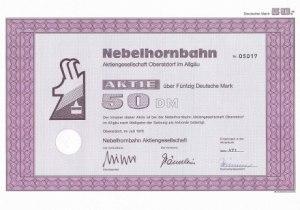 Aktie 50 DM - Nebelhornbahn AG