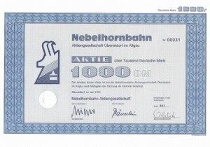 Aktie 1000 DM - Nebelhornbahn AG